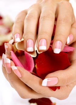 French Manicure pink / rosa
