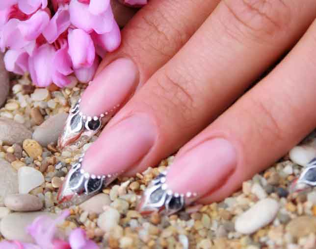 french manicure nails naegel bilder galerie mit